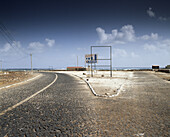 Coastal road with paving stones, cobblestones, Sao Vicente, Cape Verde Islands