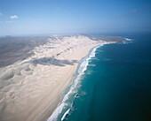 Aerial view of Praia de Chave, Boa Vista, Cape Verde Islands