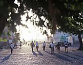 Main road in the morning, Boa Vista, Cape Verde Islands