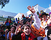 Children celebrate carnival, El Hierro Canary Island