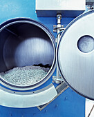 Stone washing machine for jeans, dyeing factory for fashion industry, Italy