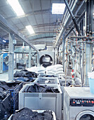 Stone washing machines for jeans, leading laundry in Italy, I.T.A.C. in Grottammare south of Pescara, Italy