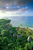 Bungalows, Coral Rag Forest, Nature Reserve, Chumbe Island, Zanzibar, Tanzania