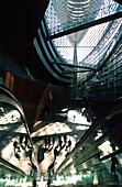 Glass hall, interior view of the Tokyo International Forum, Marunouchi, Tokyo Japan, Asia
