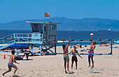 Beach Volleyball, Hermosa Beach Los Angeles, USA