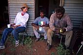 Arbeiter bei der Pause, Shearing Shed, WA Australien