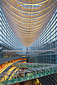 Top floor of Tokyo International Forum from architect Rafael Vinoly, Marunouchi, Tokyo, Japan