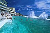 Bondi Baths, Meerwasser Pool, Bondi Beach, Bondi Bay, Sydney New South Wales, Australien