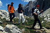 Wandern, Hiking, Dolomiten Italien