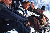 Snowboarder bei der Rast, Sport, People Release on application