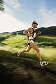 Jogger at race, Upper Austria