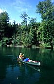 Canoe Trip, Traun River, Oberoesterreich Austria