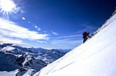 Ascending to Matterhorn along Hoernligrat, Matterhorn 4478m, , Zermatt, Switzerland