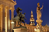 Parliament, Pallas Athene Fountain, Pallas Athene Fountain in front of Parliament, Vienna, Austria