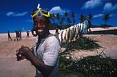 Coconut leaf fishing, Yoroma Island, Yasawa Islands Fiji