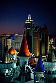 New York New York Hotel, Blick vom Excalibur Hotel Las Vegas, Nevada, USA