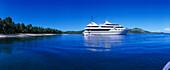 Blue Lagoon Cruises Cruiseship MV Mystique Princess, Yasawa Islands Group, Fiji, South Pacific