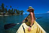 Canoe, Jean-Michel Cousteau, Resort, near Savusavu Vanua Levu, Fiji