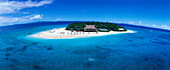 Aerial Photo, Beachcomber Island Resort, Beachcomber Island, Mamanuca Islands Group, Fiji, South Pacific