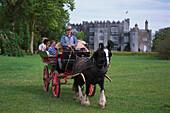 Horse and carriage, Birr Castle Demesne Birr, Co. Offaly, Ireland