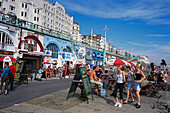 Bars and cafes along the Marine Parade, Brighton, East Sussex England, Great Britain