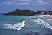 Surfers, Porthmeor Beach, St Ives, Cornwall England
