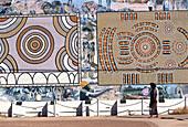 Aboriginal Mural, Tennant Creek NT, Australia