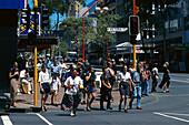 Pedestrian Crossing, Vicoria Street, Queen Street Auckland, New Zealand