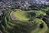 Aerial Photo, Mt. Eden Crater Auckland, New Zealand