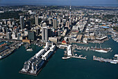 Aerial Photo, Central Business District Auckland, New Zealand