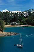 Mansion House & Yacht, Kawau Island, Hauraki Gulf , North Island New Zealand