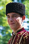 Ukrainian Folklore Boy, The Khan´s Palace, Bakhchisarai Crimea, Ukraina
