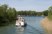 Houseboat Cruising, Houseboat cruising, Crown Blue Line Consul Houseboat, Lake Canower See, Mecklenburgian Lake District, Germany