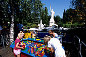 Children Playing with Lego, Legoland, Billund, Central Jutland, Denmark