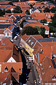Old Town Ribe, View from Ribe Domkirke Tower, Ribe, Southern Jutland, Denmark