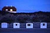 Beach Cottages at Dusk, Lokken, Northern Jutland, Denmark