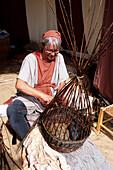 Basket weaver, Horsens Middelalder Festival, Medieval festival, Horsens, Southern Jutland, Denmark