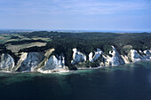Aerial Photo of Mons Klint, Chalk Cliffs on Mon, Denmark