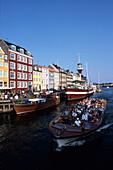 Nyhavn Sightseeing Boat, Nyhavn Canal, Copenhagen, Denmark