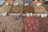 Nuts for Sale, Plaka, the oldest historical area of Athens, Central Market,  Athens, Greece