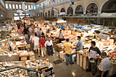Market Hall, Fish Market, Plaka, the oldest historical area of Athens, Central Market,  Athens, Greece