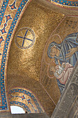 Mosaic at Orthodox Church, Plaka, the oldest historical area of Athens, Athens, Greece