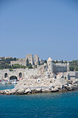 Rhodes Fortification, Rhodes Harbor Rhodes, Greece, Rhodes, Dodecanese Islands, Greece