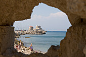 Rhodes Fortification, Rhodes, Dodecanese Islands, Greece