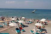 Beach Relaxation, Rhodes Main Beach, Rhodes, Dodecanese Islands, Greece