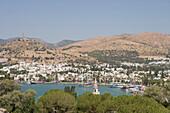 View from St. Peter's Castle on Bodrum, Bodrum, Turkish Aegean, Turkey