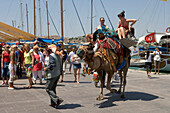 Tourists on Camel, Bodrum, Turkish Aegean, Turkey
