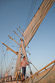 Man on Star Flyer Bowsprit, Star Flyer, Aegean Sea, Turkey