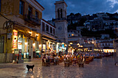 Al Fresco Dining in Hydra, Waterfront, Hydra, Greece