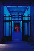 Neon-Installationen in den, Sophie-Gips-Hoefen Berlin, Deutschland